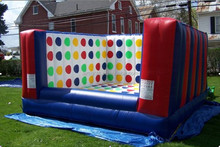 Popular sports custom inflatable 3D twister game, giant twister entanglement