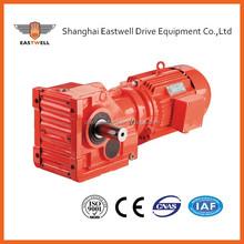 K series helical-bevel model gearbox 1:60 ratio speed reduce gearbox
