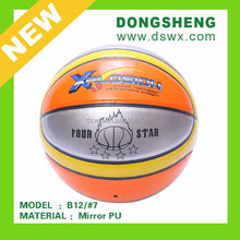 Shiny PU leather official size #7 Basketball B12