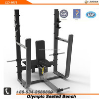 LD-9051 Barbell Exercise Rack / Olympic Seated Bench / Indoor Commercial Body Building Machinery
