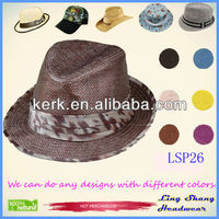 2013 Best Price Cloth Belt 100% Nature Paper Straw Hat/Party Hat ,LSP26
