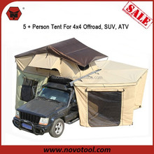 Hot Sale Products In USA Single Layer 5+ Person Canvas Camping Tents Heavy Duty Roof Tent For 4x4, SUV, ATV
