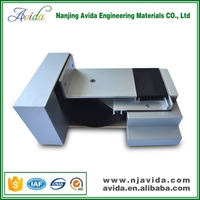Aluminum Floor Screed Expansion Joint System with Rubbery Strips