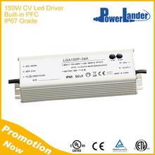 IP67 Grade 150W 24V Constant Voltage Led Driver with Built-in Active PFC