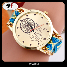 Nice Looking Colorful Woolen Watchband Fashion Watch