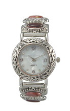 Colorful Mosaic Stones Bangle Bracelet Watch