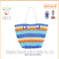 paper straw crochet women beach bag for wholesale lady paper straw beach abg