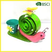 2015 Special design flower pot garden snail decoration