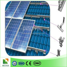 aluminum pitched roof solar mounting solar panel
