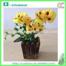 Artificial maceta de flores, flor de la azalea