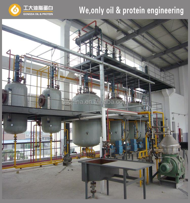 Edible Oil Plants : Modern soybean vegetable edible oil refinery plant for