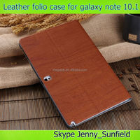 Super slim leather folio case for samsung galaxy note 10.1 p600, for samsung galaxy note 10.1 p600 case