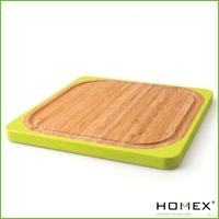 Marketable bamboo square bamboo silicone cutting board / HOMEX