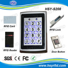 single door access control security system with keypad and rfid em card open door have wiegand26 input can connect other reader