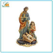 High quality hot sell Christmas manger nativity Jesus resin statues