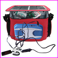 20 Cans Packs DC 12V Car Freezer Insulater Solar Cooler Bag