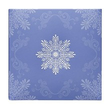 custom soft snowflake pattern gift paper box 2 piece