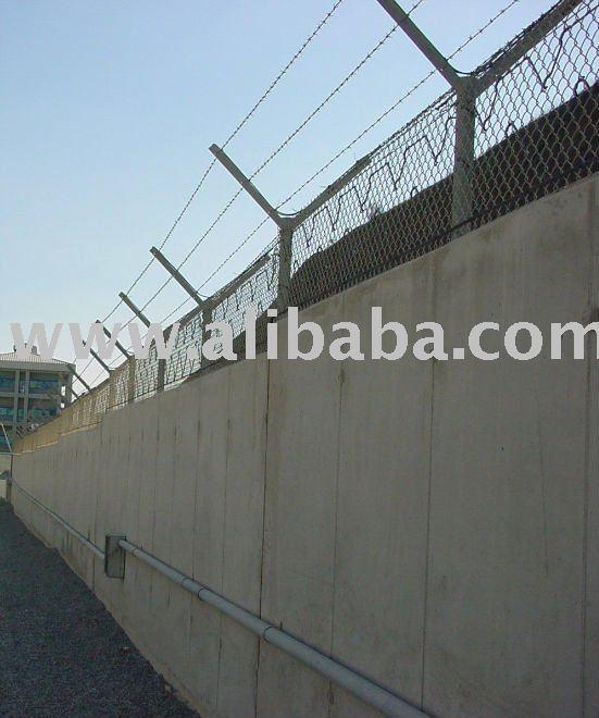 De la pared de seguridad perimetral - exterior de seguridad perimetral - subida de detección
