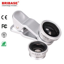 2015 Universal Circle Clip type 3 in 1 type Fisheye Lens for mobile phone