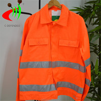 polyester cotton workwear hi vis jacket