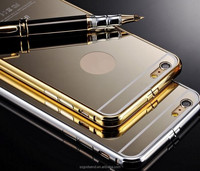 Luxury Bumper Aluminum Cover Case Electroplating Mirror Back phone case for iPhone 6/6 plus