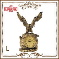 Antique clock bronze eagle sculpture decoration of house interior