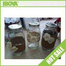 Vintage 32 oz glass mason jar with screw top for wedding