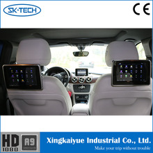 Top 10 hotsale with AV input 9 inch digital capactive touch screen headrest monitor for AUDI