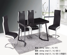 HOMEKING round glass dining table and 6 chairs