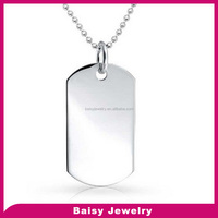 china supplier Fashion bulk sale stainless steel men pendant jewelry stamping engravable jewelry blanks