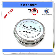 Eco-friendly metal material tin round lip balm jar containers