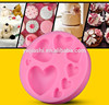 CHINA FACTORY 3D different size heart shape silicone fondant mold /heart cake decorating tools