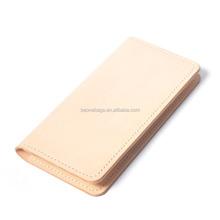 Wholesale Plain Ivory Non Brand Women Genuine Leather Lady Wallet