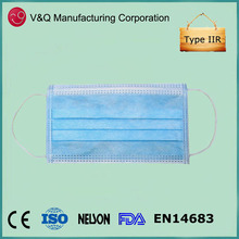 Protective anti bacterial nonwoven dispose face mask safety products