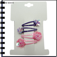 4.5cm Metal Hair Clip with Squin Flower
