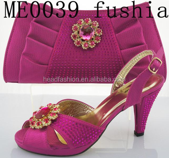 dernires fushia chaussures africains et sac de mariage en gros made in china italien femmes chaussures - Chaussure Fushia Mariage