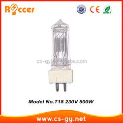 professional T 18 500w halogen lamp gy9.5 bulb