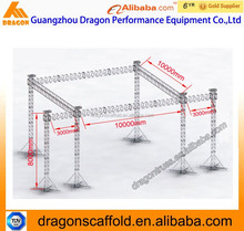 Aluminum dj lighting truss concrete truss,good price speaker lift truss system