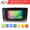 Pure Android 4.4 System Duble Din Quad-core Car Dvd For Skoda Octavia RK3188