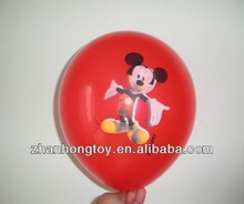 "cartoon character/animal shaped printing 12"" inches helium latex balloons"