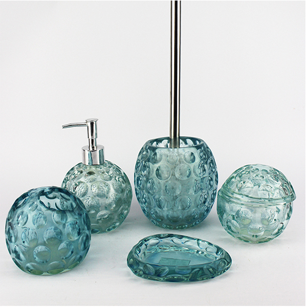 ea0119 china wholesale 5pcs duck egg blue bathroom