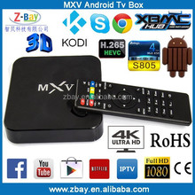 2015 hot selling amlogic S805 quad core digital tv converter set top box