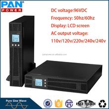 High frequency single phase online rack mount UPS 3000va 120v