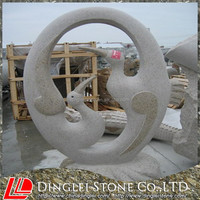 Out door Sculpture Decoration Granite stone Carving Goose On Sale