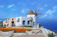 New design handmade mediterranean oil painting on canvas for wall decoration clean environment pictures