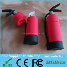 PVC extinguisher shape usb flash drive with flash drive packaging usb promotional gift items