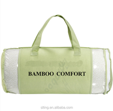 Shredded Memory Foam Orignal Bamboo Pillow with Breathable Removable Hypoallergenic Bamboo Cover