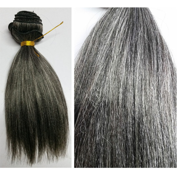 Mixed Gray Hair Weave | Short Hairstyle 2013