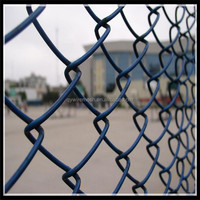 PVC coated chain link fence factory / galvanized chain link fence wire fencing / high quality chain link fence