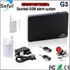 new gsm alarm system china gsm sms home burglar security alarm system 315/433/868/915MHz Saful GSM-G3